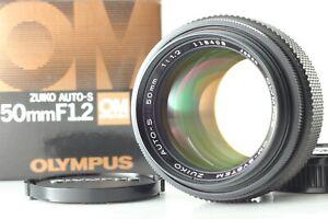 [Rare UNUSED in Box] Olympus OM Zuiko Auto-S 50mm f/1.2 MC Lens Caps from Japan