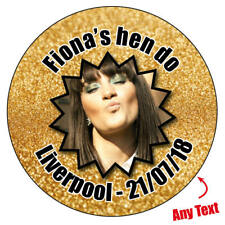 48 x GOLDEN EFFECT HEN DO PERSONALISED hen party weekend night stickers sesh 971