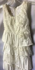 Isobella and Chloe Girls Off Ivory Sequins And Tiers Dress Size 3T -New