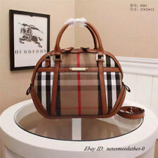 Burberry Small Bridle House Check Orchard Satchel Hand Bag Purse Brown