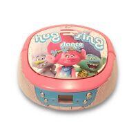 Trolls World Tour Pink Boombox Stereo CD Player AM/FM Radio eKids Model TR-430