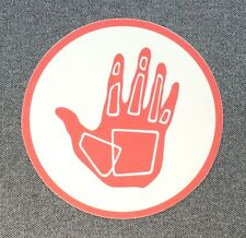 BODY GLOVE Sticker Surfboard Decal 4in pink-orange circle si