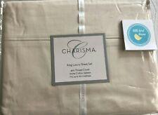 4 pc Charisma King Luxury Sheet Set Birch Beige 420 Tc 100% Cotton Sateen New