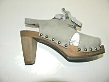 "Women's Sanita  Spica Plateau  3"" heel open toe shoes color Light blue"