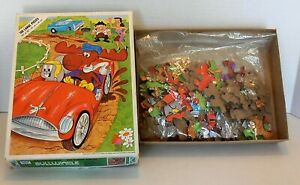 Vintage 1976 Rocky and Bullwinkle 100 Piece Jigsaw Puzzle by Whitman