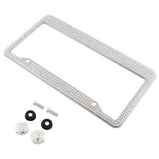 Stainless Steel Noble Luxury Bling Crystal RhineStone Car License Plate Frame