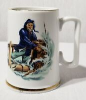 """Vintage 1985 The Norman Rockwell Museum """"Braving The Storm"""" Coffee Mug Cup EVC"""