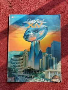 1980 Official SUPER BOWL XIV Program LA Rams vs PGH Steelers