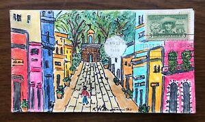 Puerto Rico Elections #983 FDC, Kate Hayden cachet art, Via del Flora