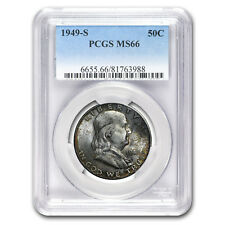 1949-S Franklin Half Dollar MS-66 PCGS (Toned)