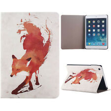 Fox Pattern Flip Stand Leather Case Cover For iPad Mini 1 2 3 Retina Elegant
