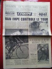 journal l'équipe 12/07/76 CYCLISME TOUR DE FRANCE 1976 VAN IMPE THEVENET