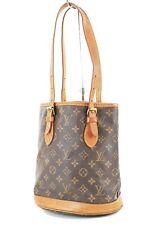 Authentic LOUIS VUITTON Petit Bucket Monogram Shoulder Bag #36255