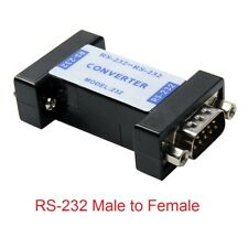 RS232 Male to 232 Female Serial Port Communication Converter Adapter balck