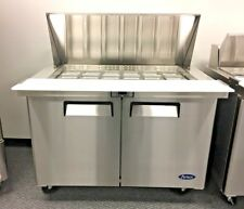 "New 48"" Atosa Commercial Refrigerator Model Msf8302 Sandwich Salad Pizza Nsf"