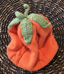 PLACE Pumpkin Halloween Fall Hat Baby Beanie Hat Infant Toddler Size 12-18 M