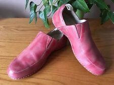 Dr Martens en Cuir Rouge Effet Vieilli Look À Enfiler Baskets Décontractées Chaussures UK 5 EU 38