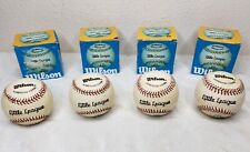 4 Vintage Wilson A1074 Haiti #87 Little League Horsehide Cork Baseball 9in 5oz