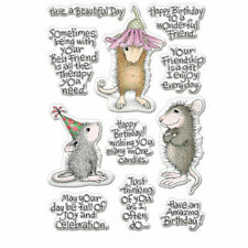 CLEAR STAMPS*MOUSE*Christmas*Birthday*Cards*Topper