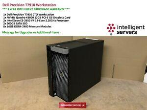 Dell T7910 Workstation Xeon E5-2650 V4 2.20GHz  128GB  2x 500GB SSD Quadro K6000