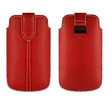 Funda Samsung Samsung Galaxy R i9103 Cuero ROJA Rojo TA1 Pull up Sleeve