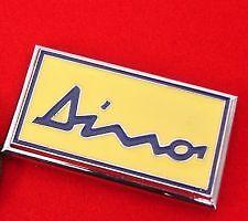 FERRARI DINO Chrome & Smalto Cofano Badge favolosa qualità.
