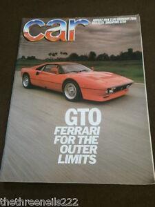 CAR MAGAZINE - FERRARI GTO - AUG 1984