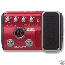 Zoom B2.1U Bass Guitar multi effects pedal procesador & fuente de alimentación
