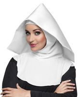 Coiffe blanche religieuse mère supérieur bonne soeur nonne pieuse adulte costume