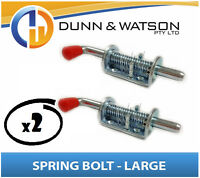 Large Spring / Shoot Bolt x 2 (Caravan, Trailer Camper, Motor home, Horse Float)
