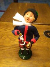 Byers Choice Boy with Glass Ornaments Santa and Glass Ball Near Mint 2013
