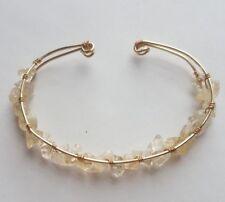 Natural CITRINE  HANDMADE Gemstone Bracelet 7-9 inches