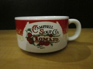 """1-Campbell Soup Co's Tomato Soup Bowl Cup Mug, Year 2000--2.5""""H x 4.25""""W"""