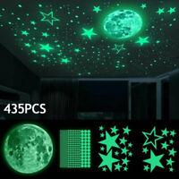 435pcs Luminous Moon Star Stickers Art Planet Decals Wall Door Window Decoration