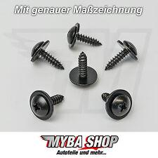10x Metall Bund Kombi Kreuzschlitz Schraube Universal in Schwarz | 90114-SE0-00