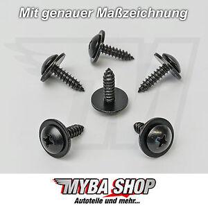 10x TORX m6 tornillos con fijación paréntesis chapa madre m6 para VW SEAT