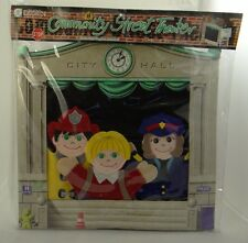 COMMUNITY STREET THEATER ~ Felt Puppet Playset ~ Town Square Life Size Education