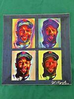 Minnesota Twins Kirby Puckett Vinyl Lithograph-Collectible-HOF '01-PUCK-8x8 COA
