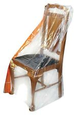 4x Wrap & Move Dining Chair Protector Cover 1200x1000x250mm See-Through