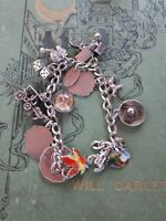 "LOADED Vintage Sterling Silver Charm Bracelet & 12 Charms,7.00"", 37.8gr, RARE"