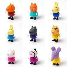 9pcs/set Cute Peppa Pig Family & Friends Petrol Emily Zoe Figure Kids Toys Gift