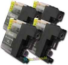 4 LC227XL Black Ink Cartridges For Brother Printer DCPJ4120DW MFCJ4420DW non-OEM