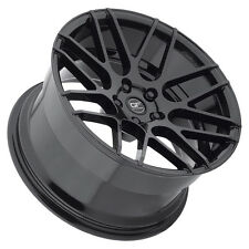 Ground Force GF7 19x8.5 5x114.3 Black Wheels (set of 4)