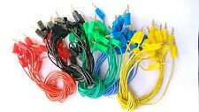 50 PCS 5 color 2mm Gold Banana Plug Cable for Test Probes Instrument Meter