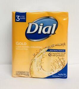 3-Pack Dial Gold Antibacterial Deodorant Soap 3 Bars 4 oz Each ( 9 Bars Total)