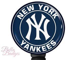 New York Yankees Badge Reel MLB Baseball ID Holder
