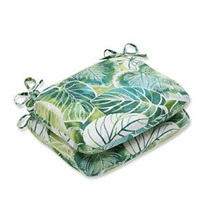 Pillow Perfect Outdoor/Indoor Key Cove Lagoon Round Corner Seat Cushions 18.5...
