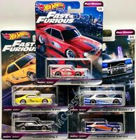 HOT WHEELS 2020 FAST & FURIOUS PREMIUM FAST REWIND SET OF 5 CAR MAZDA NISSAN
