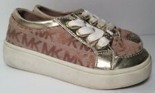 MICHAEL KORS Toddler Girls Lil Madeleine Gold Laced Sneakers Shoes (Size 8)