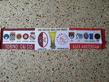 sciarpa TORINO - AJAX final europa league 1992 football club calcio scarf
